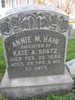 Annie M. <i>Spatz</i> Hain