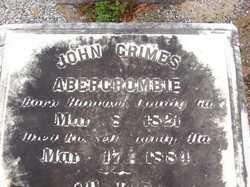 John Grimes Abercrombie