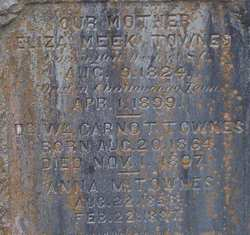 Eliza <i>Meek</i> Townes