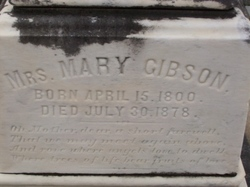 Mrs Mary Polly <i>Buck</i> Gibson