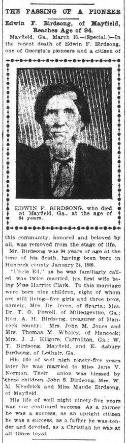 Edwin Franklin Birdsong