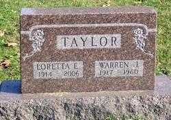 Loretta Eleanor <i>Holmes</i> Taylor
