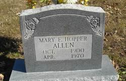 Mary E <i>Hopper</i> Allen