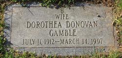 Dorothea <i>Donovan</i> Gamble