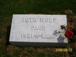 Ruth <i>Wolf</i> Page