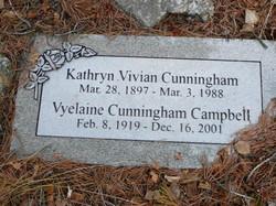 Vyelaine <i>Cunningham</i> Campbell