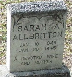 Sarah Ann Jane <i>Strickland</i> Allbritton