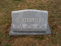 Alice C Burkholder