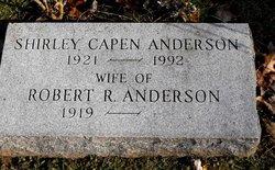 Shirley <i>Capen</i> Anderson