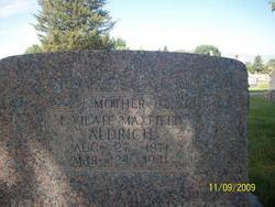 Vilate <i>Maxfield</i> Aldrich