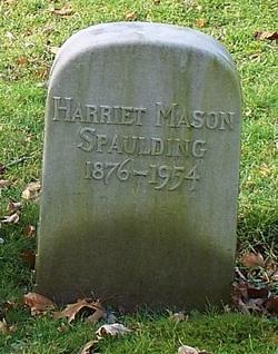 Mrs Harriet <i>Mason</i> Spaulding