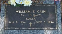 William E Cain