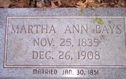 Martha Ann <i>Bays</i> Henderson