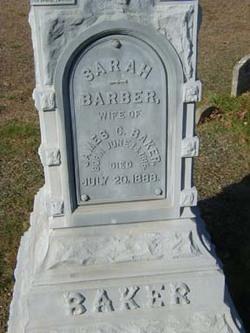 Sarah <i>Barber</i> Baker