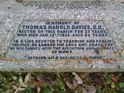 Rev Thomas Harold Davies