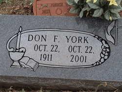 Donald Freece Don York