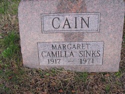 Margaret Camilla <i>Sinks</i> Cain