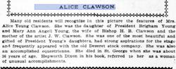 Alice <i>Young</i> Clawson
