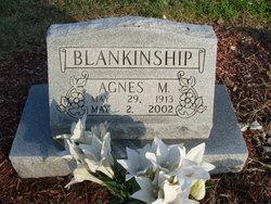 Agnes M <i>Hillis</i> Blankenship