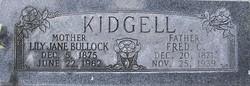 Lily Jane <i>Bullock</i> Kidgell