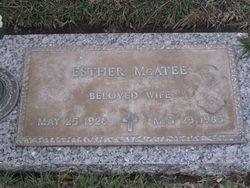 Esther Maude <i>Schoen</i> McAtee