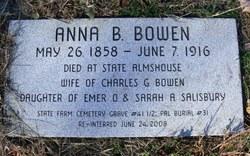 Anna B <i>Salisbury</i> Bowen