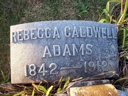 Rebecca <i>Caldwell</i> Adams