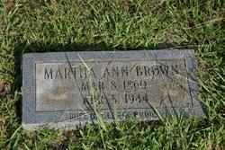 Martha Ann <i>Jacobs</i> Brown