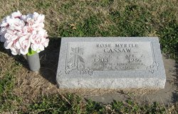 Rose Myrtle <i>McDaniel</i> Cassaw