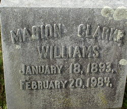 Marion <i>Clarke</i> Williams