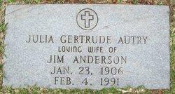 Julia Gertrude <i>Autry</i> Anderson