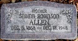 Sabrina Elzetta <i>Robinson</i> Allen