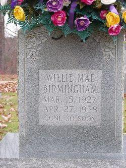 Willie May <i>Perkins</i> Birmingham