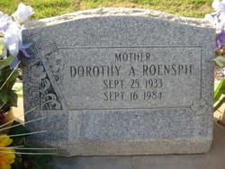 Dorothy Ann <i>Simmons</i> Roenspie