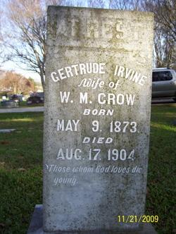 Gertrude <i>Irvine</i> Crow