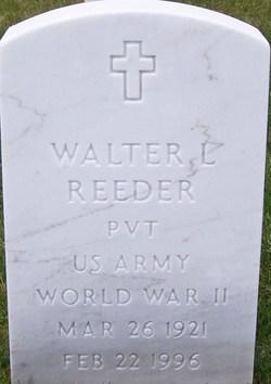 Pvt Walter Louis Reeder