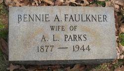Bennie A <i>Faulkner</i> Parks