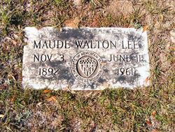 Maude <i>Walton</i> Lee