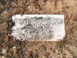 Eliza Elizabeth <i>Hayden</i> Walton