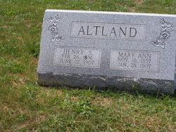 Mary Ann <i>Brodbeck</i> Altland