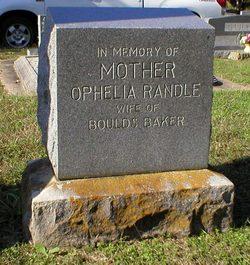 Ophelia Martha <i>Randle</i> Baker