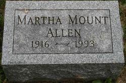 Martha <i>Mount</i> Allen