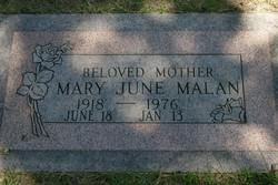 Mary June <i>Knapp</i> Malan