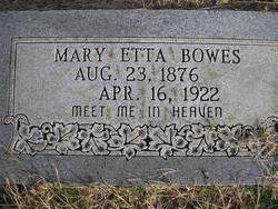 Mary Etta Bowes