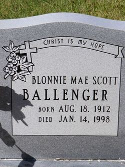 Blonnie Mae Scott Ballenger