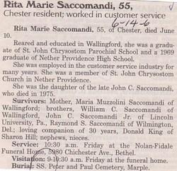 Rita Marie Saccomandi