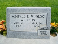 Winifred E. <i>Ausman Winslow</i> Addison