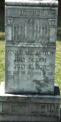 Minnie Lee <i>Johnson</i> Letlow