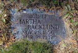 Martha <i>Backlund</i> Frisendahl