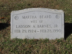 Martha <i>Beard</i> Barnes